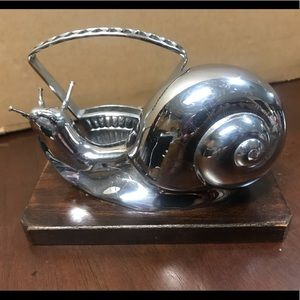 Other - Art Deco Rabier Style Snail Cocktail Pick Holder